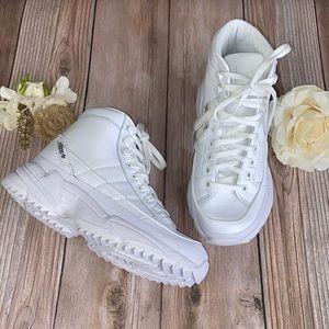 Adidas White Leather Platform Sneakers 5.5M